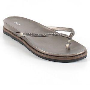 👍🏻3/$25👍🏻 Apt. 9 gold sparkly sandals 9 1/2